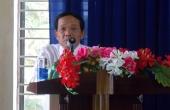 Đ/c Lê Văn Sâm, Chủ tịch Công đoàn thông qua Báo cáo của BCH Công đoàn về tình hình thực hiện Nghị quyết Hội nghị Người lao động năm 2017